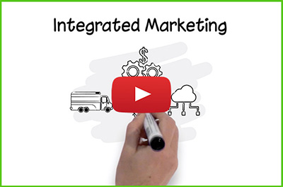 Opening screen of the Integrated Marketing Video on youtube.